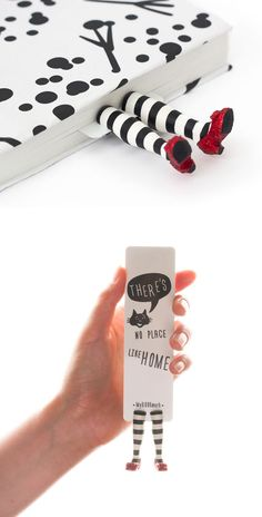 When the book is closed, the tiny legs stick just beyond the pages and make the bookmark a conversation starter.