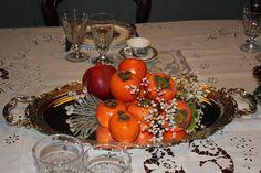 baroque silver tray and khaki