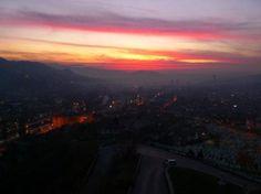Sarajevo at sunset,Bosnia