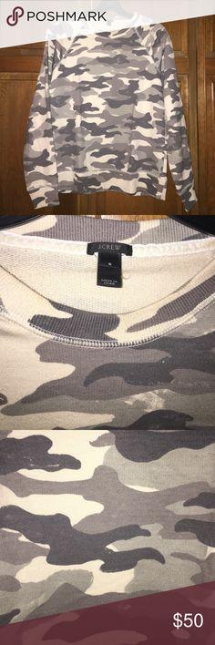 Jcrew sweatshirt Jcrew camo sweatshirt J. Crew Tops Sweatshirts & Hoodies