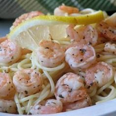 Linguine is tossed with a lemony wine and shrimp mixture!