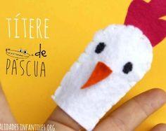 Titere de dedo para Pascua. #Manualidades hechas de #Fieltro para niños.