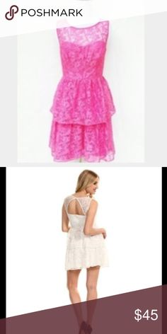 Max and Cleo dress Size 2. One small snag that isn't noticeable at all. Excellent condition. Open to offers. Rose style in the color fandango pink. 2nd and 3rd photos from Google. Actual color is pink, white dress shows the back. Adding better photos soon. Max & Cleo Dresses Mini
