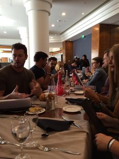 Dan Feuerriegel lunch with the fans at Spartacus Con in Paris (Sept.20-21)