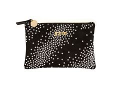 Our smallest, most petite suede zip wallet in metallic silver star print with gold hardware is perfect for small, personal items. Zip Wallet, Pouch, Wish Gifts, Things I Need To Buy, Clare Vivier, Couture Bags, Silver Stars, Star Print, Zapatos