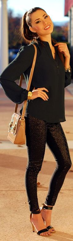 #Sequin #Skinnies by Hapa Time => Click to see what she wears