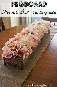 pegboard flower box centerpiece, crafts, dining room ideas, flowers
