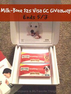 Milk-Bone Brushing Chews Review & $25 Visa Gift Card #Giveaway | Holyjeans & My Favorite Things