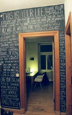 Door chalk....
