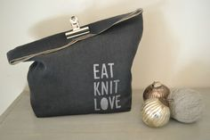 linen knitting bag...could make it for just about anything.