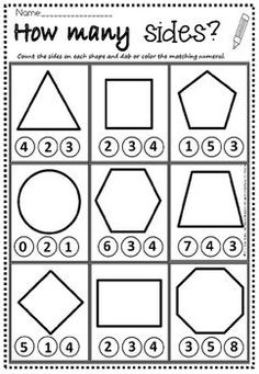 shapes how many sides maternelle shapes how many sides Shapes Worksheet Kindergarten, Shapes Worksheets, Kindergarten Math Worksheets, Homeschool Kindergarten, Preschool Learning Activities, Preschool Lessons, Preschool Math, Shape Worksheets For Preschool, Kindergarten Readiness