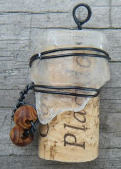 Beach Jewels Wire Wrapped Sea Glass and Cork by cherrycircus