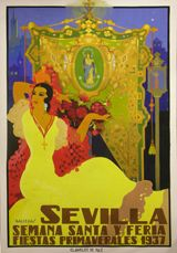 Cartel de Las Fiestas de Primavera de Sevilla 1937