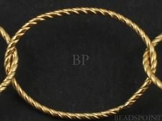 14k Gold Filled Oval Cable Chain, Etched Line Textured Rope Pattern  Medium Weight Large Delicate Round Oval Links, (GF-M756TW) (108)