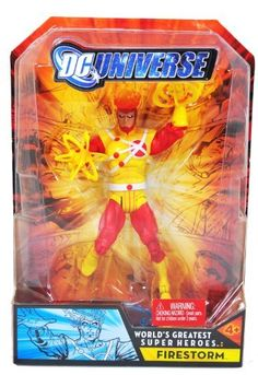 "DC Universe Year 2008 ""World's Greatest Super Heroes"" Series 6-1/2 Inch Tall Action Figure - FIRESTORM with Display Base"