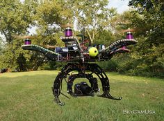 New X6 Hexacopter Heavy Lift Multirotor! Able To Fly The Red Cam! by SkyCamUsa. Don't let that Canon camera mounted on this girl fool you. This baby can fly the red camera without blinking an eye. The FS100 too. In fact this GPS enabled Multicopter and lift about a 15 lb camera payload and move it on 2 axis with gravity level roll. Designed for higher end productions wishing to carry a large camera Excellent for Television Hollywood films, car commercials, music video ect.