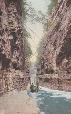 AUSABLE CHASM, New York, Grand FLUME Below Rapids, Vintage Postcard, Used & Stamped, 1900s, Phostint, Detroit Publishing Co. by AgnesOfBohemia, $2.99