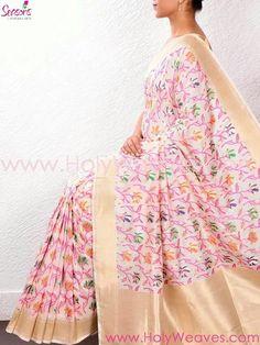 Handloom floral Jamdani