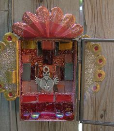 LoVED Mixed Media Mosaic Shrine Collage Altered Art Nicho on etsy