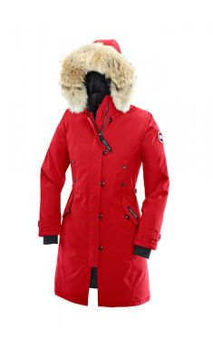 Canada Goose Kensington Parka Red Women #warmcloth