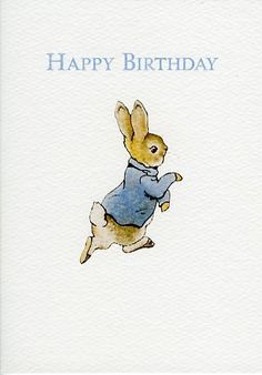 Peter Rabbit Beatrix Potter carte de voeux