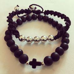 #zowiecreations Siguenos instagram & facebook #men #menbracelets #black #negro #combination #bracelets #pulseras #silver #jewerly #pr #handmade