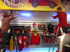 Install #ledlights at the Ferrari store #lighting