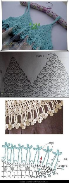 great crochet fringe! And another lovely crochet yoke - created via http://pinthemall.net