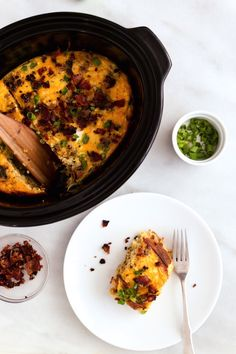 Rounding out as the last recipe in our slow cooker week is breakfast casserole by Elle Penner, our Registered Dietitian. Imagine fluffy eggs and hash brown potatoes studded with pieces of thick-cut...