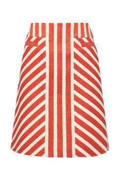 Buy Karen Millen Striped Tweed Skirt, Red/Multi from our Women's Skirts range at John Lewis & Partners. Skirt Outfits, Dress Skirt, Red A Line Skirt, Skirt Patterns Sewing, Skirt Sewing, Pattern Skirt, Patchwork Patterns, Coat Patterns, Blouse Patterns
