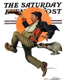 Norman Rockwell, 'Fleeing Hobo', August 18, 1928.