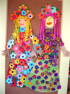 Beautiful dolls to make during summer vacation. Kids Crafts, Spring Crafts For Kids, Projects For Kids, Diy For Kids, Diy And Crafts, Arts And Crafts, Cardboard Crafts, Paper Crafts, Toddler Art