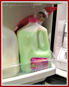 I have to warn you with this one.  Only one of my kids was brave enough to drink it. You have to be willing to waste the milk.