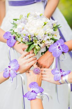 Mariage bracelet demoiselles d'honneur vanda rotschildiana