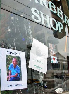 Older missing poster for Jaliek Rainwalker on a storefront of a barber shop on Main Street in Greenwich Wednesday afternoon December 19, 2007. (John Carl D'Annibale / Times Union) Photo: John Carl D'Annibale / Albany Times Union