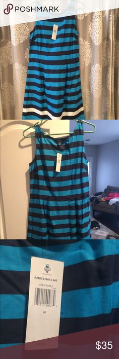 Tommy Hilfiger Dress Very lightweight sleeveless knee length dress. Soft to the touch with blue and white stripes   Bought for a baby shower but picked something else Tommy Hilfiger Dresses