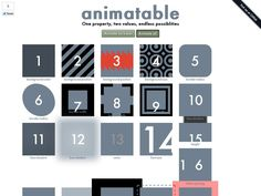 Animatable  lets you easily animate all sorts of properties, including background-color, background-position, border-width, font-size, color, border-radius, opacity, and much more.