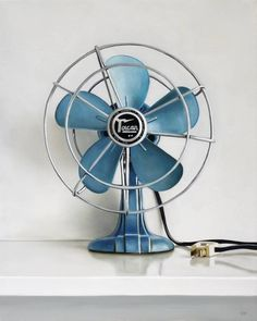 Vintage Torcan Electric Fan | From a unique collection of still-life paintings at https://www.1stdibs.com/art/paintings/still-life-paintings/
