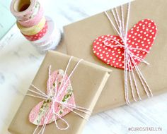 Curiositaellya: Sweet Heart Packaging and Vase Washi Tape {DIY}