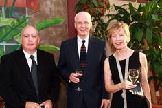 Bill Mallett, City of Sarasota liaison with Sister Cities; Dennis Collins & Vickie Swenson at the One World Gala reception March 28, 2012