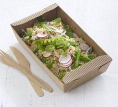 Bulghar & broad bean salad with zesty dressing
