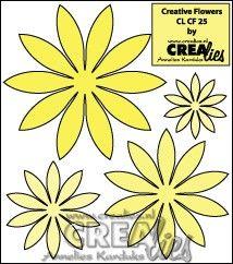 Crealies Creative Flowers no. 25 (stans - die - Stanzschablone - pochoir) http://www.crealies.nl