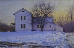 Peter Poskas, Late Afternoon, Lorch Farm 2014, oil on panel