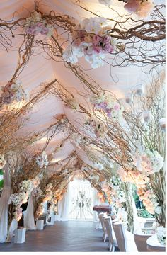 Wedding - Aisle Decorations - Whimsical branches blooms....we ♥ this! moncheribridals.com