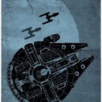 Star Wars Spaceship Poster Set - Millennium Falcon