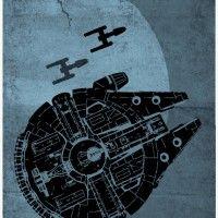 Star Wars Spaceship Poster Set - Millennium Falcon