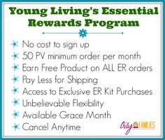 What are the benefits of the Essential Rewards Program with Young Living?  Here are a few simple reminders!