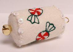 white felt ornament