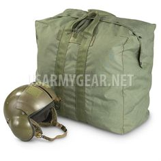 USAF OD Olive Drab Flyer s Kit Flight Cotton Duck Canvas Pilot Parachute Bag  GI  536168910efaa