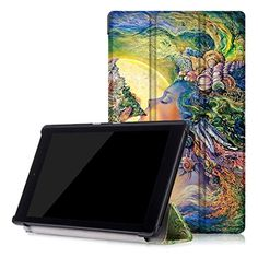 GBSELL Fashion Leather Shell Case Cover For Amazon Kindle Fire HD 8 Inch Tablet (E)